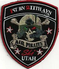 US ARMY 1ST BN 211TH AVN PATCH- 'AIR PIRATES'   'SKI UTAH'     FULL COLOR