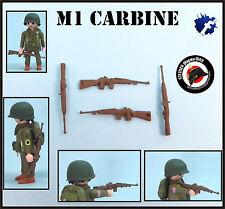 1x M1 CARBINE US CARABINA WW2 GUERRA MUNDIAL FUSIL SOLDADOS AMERICANOS PLAYMOBIL