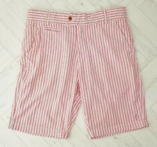 Made in the Shade Red White Stripe Cotton Shorts Size XL L Summer Beach