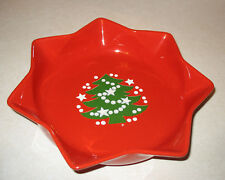 Vtg Waechtersbach Red Christmas Tree Holiday Plate Star Shaped Dish Germany 10""