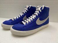 Nike Sportswear Blazer Mid '77 Suede Racer Blue White Black CZ1088-400 Size 7