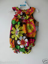 Carter's Girls Ruffled Floral Bubble tank Romper size 6 Months Nwt G82595