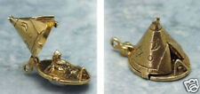 14k gold vintage TEEPEE w CHIEF charm OPENS