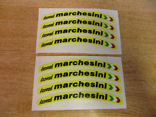 """Marchesini Forged"" Wheel rim decals - set of 8 - 100mm length - Yellow"