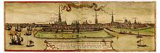 Hamburg Elbe River Hanseatic City Germany bird's-eye view map Hogenberg ca.1572