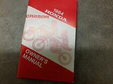 1984 HONDA CR250R CR 250 R Owners Manual OEM FACTORY DEALERSHIP 84 FACTORY