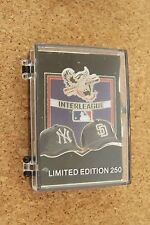 2013 NY New York Yankees vs SD San Diego Padres Interleague pin light curling