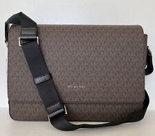 New Michael Kors Harrison Messenger handbag PVC & Leather Brown / Black