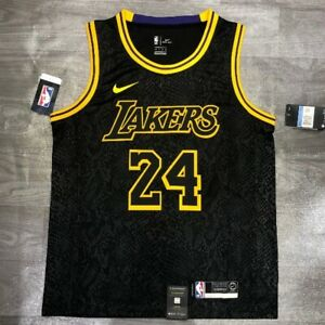 Kobe Bryant Black Mamba Los Angeles Lakers Jersey Snake Skin Size XL NBA