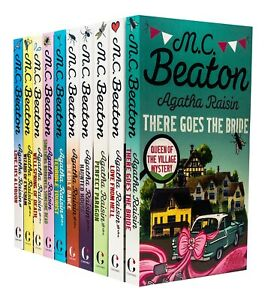 Agatha Raisin 10 Books Collection Set Series 1 By M C Beaton Pack Deadly Dance