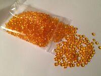 Orange Scatter Crystals 6.5mm Wedding Table Decoration Acrylic Confetti Gems