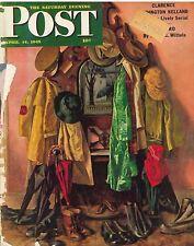 The Saturday Evening Post April 14 1945 John Falter Vintage Birthday Gift