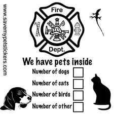 Save My Pet Sticker/Decal - Rescue My Pet Sticker - Pet Alert Stickers