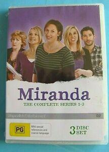 MIRANDA Series 1-3 DVD Series 1 2 3 Miranda Hart NEW SEALED Region 4 see below