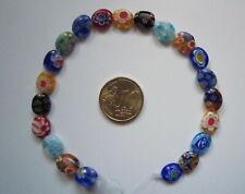 Perlas ovales cristal milflores 10 x 8 mm X 21 UNIDADES colores abalorios