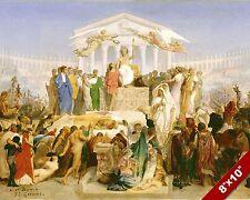AGE OF AGUSTUS CAESAR AT BIRTH OF JESUS CHRIST PAINTING BIBLE ART CANVAS PRINT