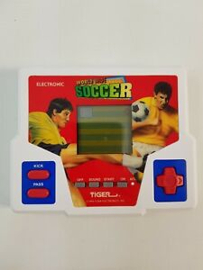 World Wide Soccer Tiger Electronics LCD Computer Game Handheld Tested Working