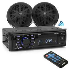 "Bluetooth Marine MP3/USB/SD AM/FM Receiver Stereo & 5.25"" Speaker Kit"