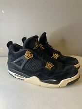 Nike Air Jordan 4 Retro Royalty Black Metallic Gold 308497 032 Sz 10.5 Beaters