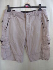 River Island Cotton Patternless Cargo, Combat Shorts for Men