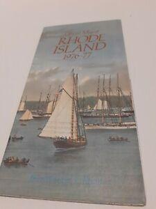 ⭐ Vintage Travel Brochure Official Map Of Rhode Island 1976-77