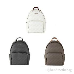 Michael Kors Erin Large Signature PVC Leather Shoulder Backpack Book Bag
