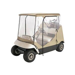 Golf Cart Rain Cover Enclosure 2 Person Club Car Waterproof Portable w/ Case NEW