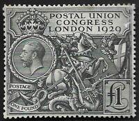 1929 KGV SG438 £1 Black PUC MNH Mint CV £1,100