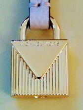 MICHAEL KORS GOLD LOGO LOCK STYLE CHARM / SOFT PINK LEATHER STRAP HANDBAG FOB