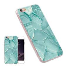 Light Blue Marble Pattern Fashion TPU Cool Phone Case for iPhone Samsung Huawei