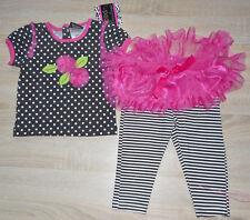 Baby Mädchen 💕 Sommer Kleid 💕 Set 2tlg 💕 T-Shirt + Leggings 💕  mit Rock 💕