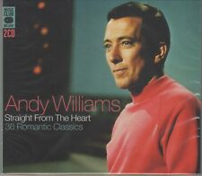 "Andy Williams ""Straight From The Heart"" 36 Romantic Classics 2CD Set NEW/SEALED"