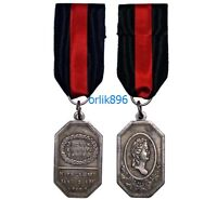 Sign   medal Of service and bravery 1790, with moire ribbon.