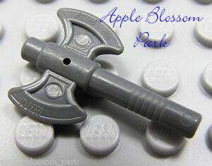 NEW Lego Kingdoms Minifig Gray DOUBLE-BLADE AXE Ninjago Castle Minifigure Weapon