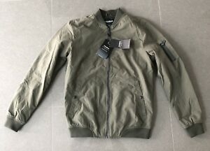 New Mens Pull & Bear Bomber Jacket UK Medium Khaki
