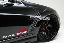 RACER Decal Sticker Sport car racing stripe logo auto emblem motorsport (PAIR)