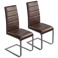 B-Ware Freischwinger Esszimmerstühle 2er Set Essstühle Küchenstühle Stühle Braun