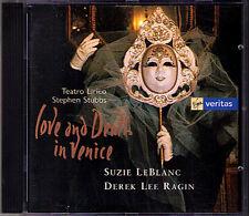 LOVE AND DEATH IN VENICE Derek Lee Ragin Suzie LeBlanc CD Merula Vivaldi Cavalli