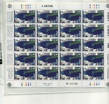 Jersey 1988 20 Stamp Sheet Scott 455 Mnh
