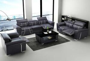 Multifunktions Couch Relax Sofa Leder Polster Couchen Dreisitzer Design 3er Neu