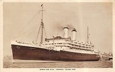POSTCARD  SHIPS    RMS   ORONTES      Orient   Line