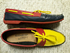 Cute Guidabene by BERNARDO Navy Red Yellow Women's Size 7.5 Loafers Shoes ITALY