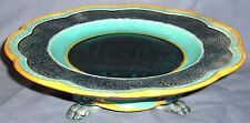 WEDGWOOD C1876 MAJOLICA CAKE STAND PICTURE CENTER & PAW FEET