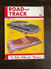 Road & Track Rivista Dicembre 1950 Allard K2-Cadillac - Ferrari - M.G Schizzi