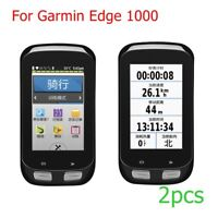 2PC 9H Premium HD Tempered Glass Screen Protector Skin Film For Garmin Edge 1000