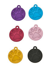 Personalised Engraved Paw Pet Id Dog Puppy Collar Name Disc Disk Tags FreePost B