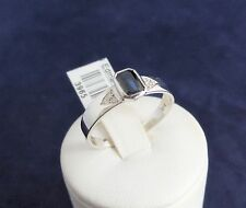 18CT HAND CRAFTED W/GOLD RING-2.9gr,BLUE SAPPHIRE=0.65ct,TDW=0.05ct.+VALUATION