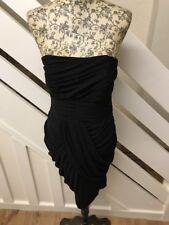 MONSOON Womens Black Party Races Evening Wrap Dress 10UK RRP £120