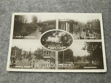 1935 fr real photo postcard - Greetings from Dublin - Eire / Ireland