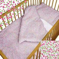 baby BEDDING set crib cot Tiny Flowers DUVET bumper MOSES BASKET sheet GIRL BOY